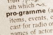 Dictionary definition of word programme  — Stock Photo