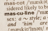 Dictionary definition of word masculine  — Stock Photo