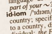 Dictionary definition of word idiom  — Stock Photo