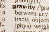 Dictionary definition of word gravity — Stock Photo