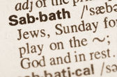 Dictionary definition of word Sabath  — Stock Photo