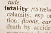 Dictionary definition of word fatality — Stock Photo