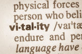 Dictionary definition of word vitality  — Stock Photo