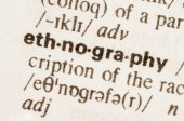 Dictionary definition of word ethnography  — Stock Photo