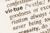 Dictionary definition of word virtue  — Stock Photo