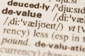 Dictionary definition of word devalue  — Stock Photo