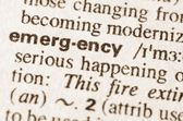 Dictionary definition of word emergency — Stock Photo