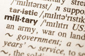 Dictionary definition of word military — Stock Photo