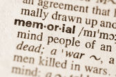 Dictionary definition of word memorial  — Stock Photo