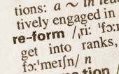 Dictionary definition of word reform — Stock Photo