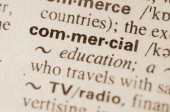 Dictionary definition of word commercial — Stock Photo