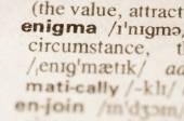 Dictionary definition of word enigma — Стоковое фото