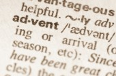 Dictionary definition of word advent — Stock Photo