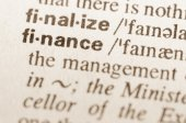 Dictionary definition of word finance — Stock Photo