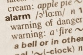 Dictionary definition of word alarm — Stock Photo