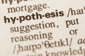Dictionary definition of word hypothesis — Stock Photo