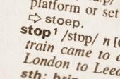 Словарное определение слова стопа — Стоковое фото
