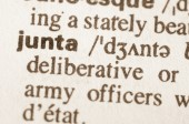 Dictionary definition of word junta — Stock Photo