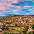 Panoramic view of Tbilisi at sunset — Stock Photo #53896793