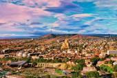 Panoramic view of Tbilisi at sunset — Stock Photo