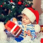 Little boy wearing Santa hat — Stock Photo #60026073