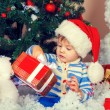 Little boy wearing Santa hat — Stock Photo #60026073