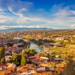 Tbilisi city center over sunset — Stock Photo #61692955