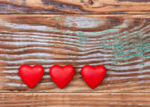 Red Valentines hearts — Stock Photo