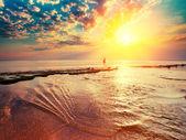 Alba sul mare — Foto Stock