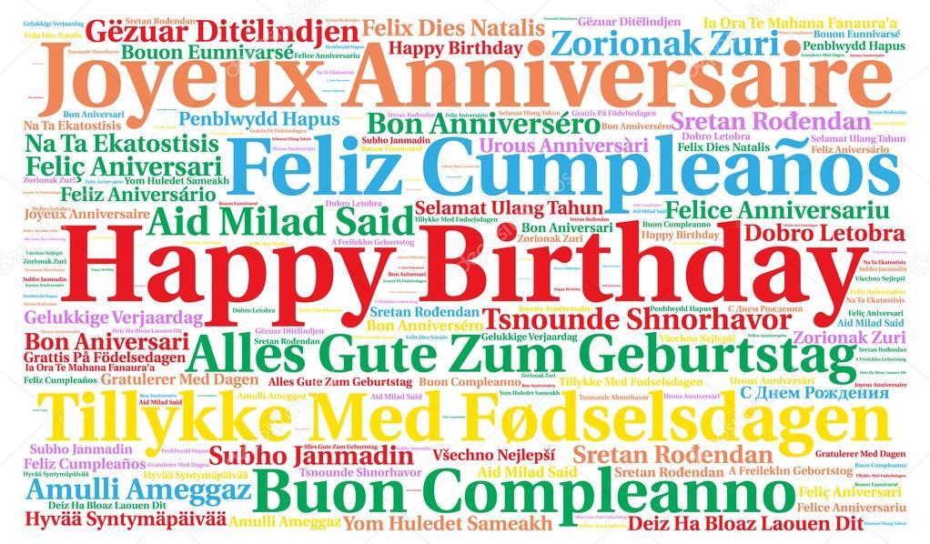 Поздравление с днём рождения на всех языках мира 76