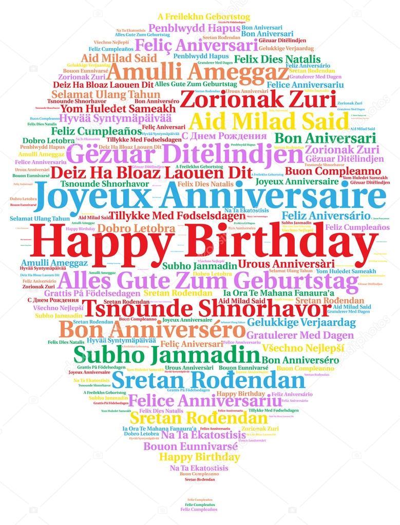С днем рожденья тебя на всех языках мира