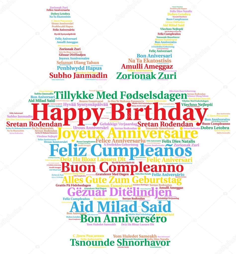 Alles Gute zum Geburtstag in verschiedenen Sprachen