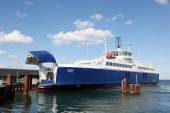 Ferry at Hou harbor in Denmark — Stock Photo
