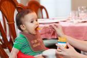 Bebê com fome — Foto Stock