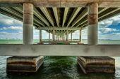 Rickenbacker Causeway Bridge — Stock Photo