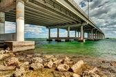Rickenbacker Causeway Bridge — ストック写真
