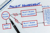 Project Management Diagram — Stock Photo