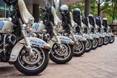 Police motorcycles — Stock Photo