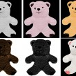 Bear soft toy painted on easily editable background — Stock Photo #58188075