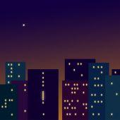 Night city — Stock Vector