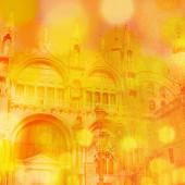 The Basilica San-Marco, Venice. Venice background with bokeh. — Stock Photo