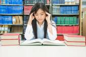 Young asian student under mental pressure — Stock Photo