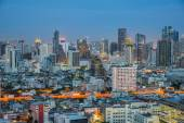 Bangkok city night view, Thailand — Stock Photo