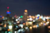 Bangkok cityscape at twilight time, Blurred Photo bokeh — Stockfoto