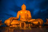 Big Golden Buddha at Wat Muang in Ang Thong, Thailand — Stock Photo