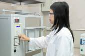 Scientists using High Temperature Muffle Furnace in laboratory — Stock Photo