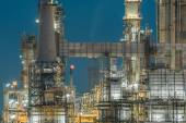 Lighting from structure of oil and chemical factory — Stock Photo