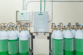 Medical Oxygen Tank in Hospital control room — Stock Photo