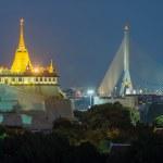 The Golden Mount. Travel Landmark of Bangkok ,Thailand — Stock Photo #54586715