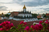Wat Ratchanaddaram and Loha Prasat Metal Palace in Bangkok ,Thai — Stock Photo